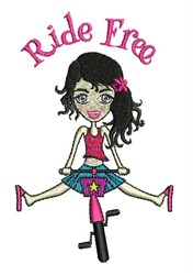 Ride Free embroidery design