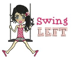 Swing Left embroidery design