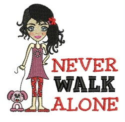 Never Walk Alone embroidery design