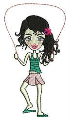 Jump Rope Girl embroidery design