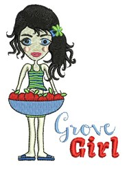 Grove Girl embroidery design