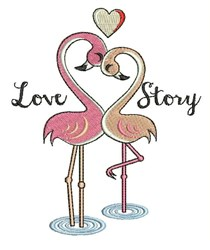 Love Story embroidery design