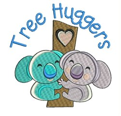 Tree Huggers embroidery design