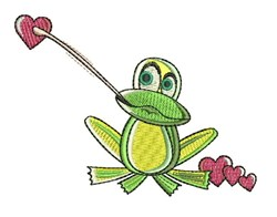 Love Frog embroidery design