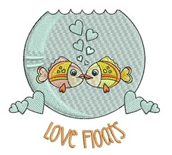 Love Floats embroidery design
