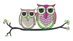 Owl Couple embroidery design