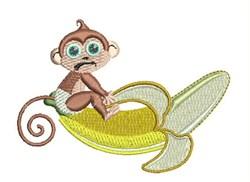 Banana Monkey embroidery design