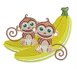 Banana Monkeys embroidery design