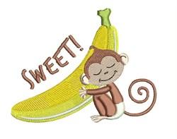 Sweet Monkey embroidery design