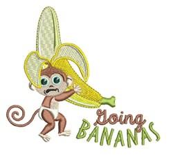 Going Bananas embroidery design