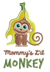 Mommys Monkey embroidery design