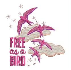 Free As Bird embroidery design