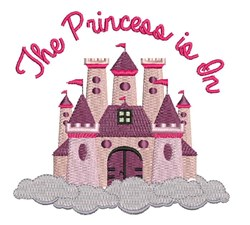 Princess Is In embroidery design