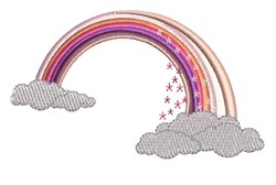 Rainbow Clouds embroidery design
