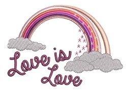 Love Is Love embroidery design