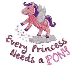 Need A Pony embroidery design