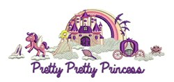 Pretty Princess embroidery design