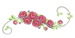Roses Swirl embroidery design
