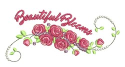 Beautiful Blooms embroidery design