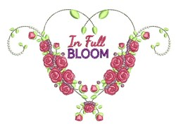 In Full Bloom embroidery design