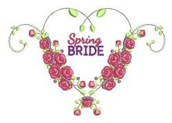 Spring Bride embroidery design