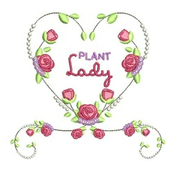 Plant Lady embroidery design