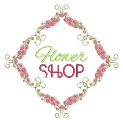 Flower Shop embroidery design