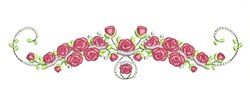 Rose Blooms embroidery design