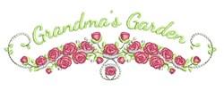 Grandmas Garden embroidery design