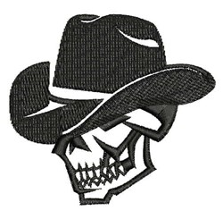 Cowboy Skull embroidery design