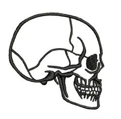 Skull Profile embroidery design