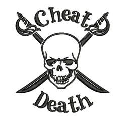 Cheat Death embroidery design