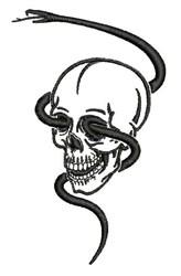 Snake Skull embroidery design