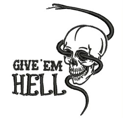 Give Em Hell embroidery design