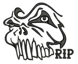 RIP Skull embroidery design