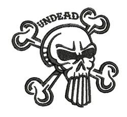 Undead embroidery design