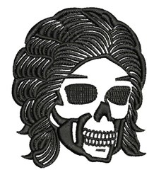 Goth Skull embroidery design