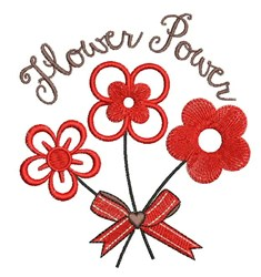 Flower Power embroidery design