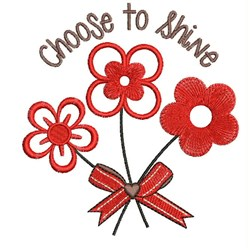 Choose To Shine embroidery design