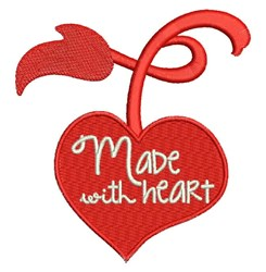 Made With Heart embroidery design