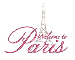 Welcome To Paris embroidery design