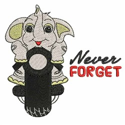 Never Forget embroidery design