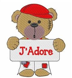 JAdore Teddy Bear embroidery design