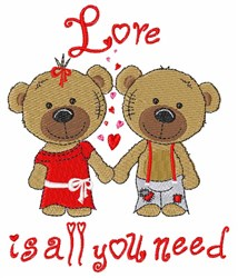 Love is All You Need embroidery design