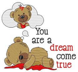 Dream Come True embroidery design