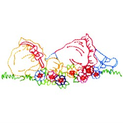 Lying In Flowers embroidery design
