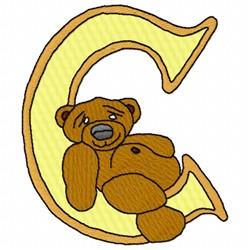 Bear Alphabet C embroidery design
