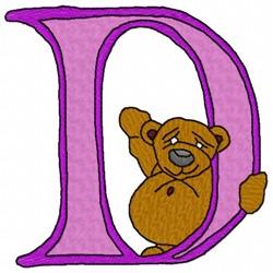 Bear Alphabet D embroidery design