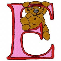 Bear Alphabet E embroidery design