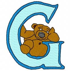 Bear Alphabet G embroidery design